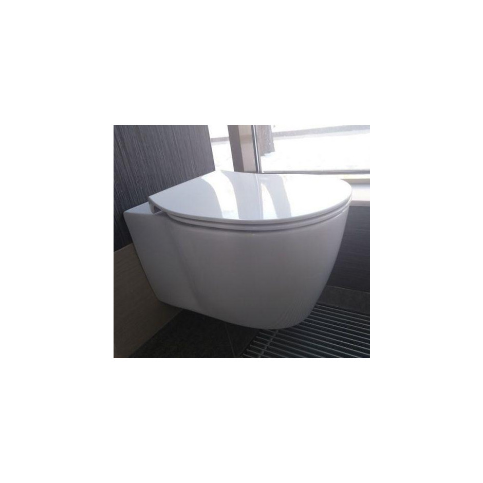 Ideal Standard Connect deska sedesowa WC wolnoopadająca cienka biała - 473169_O3
