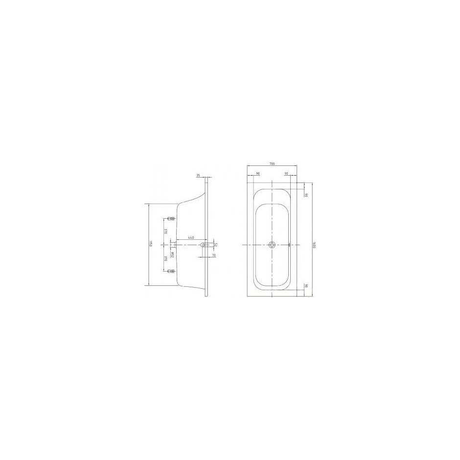 Villeroy & Boch Loop & Friends wanna 1600 x 700 mm weiss alpin - 454601_T1