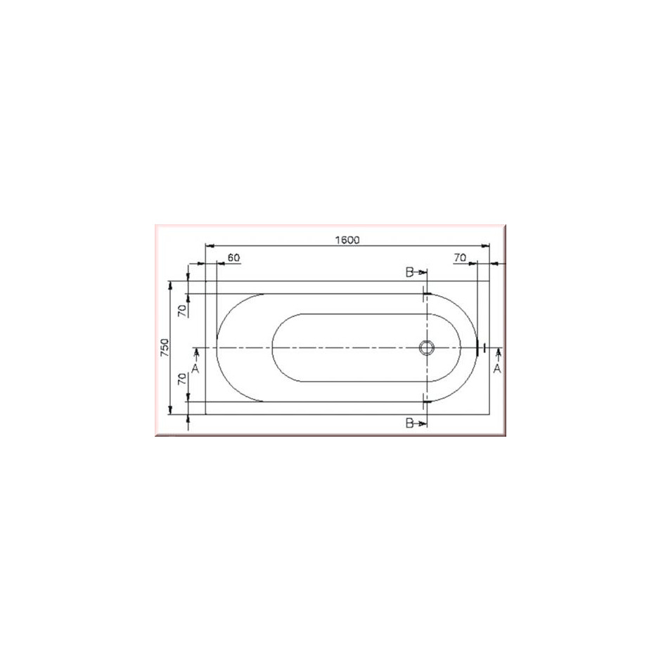 Villeroy & Boch Oberon Wanna prostokątna 1600 x 750 mm weiss alpin - 353926_T2
