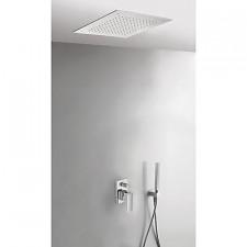 Tres Cuadro-Tres kompletny zestaw prysznicowy podtynkowy deszczownica 380x380mm chrom - 524972_O1
