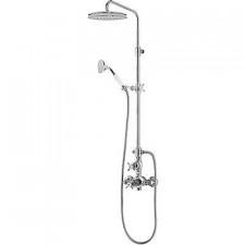 Tres Retro kompletny zestaw prysznicowy natynkowy termostatyczny deszczownica o310 chrom - 455160_O1