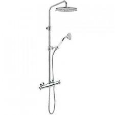 Tres Retro kompletny zestaw prysznicowy natynkowy termostatyczny deszczownica o310 chrom - 455179_O1