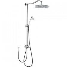 Tres Retro zestaw prysznicowy natynkowy deszczownica o310mm chrom - 525513_O1