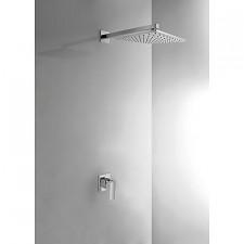 Tres Cuadro-Tres kompletny zestaw prysznicowy podtynkowy deszczownica 300x300mm chrom - 389174_O1
