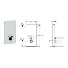 Geberit Monolith moduł sanitarnydo WC wiszącego, H101, umbra - 599114_O1