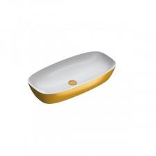 Catalano Green Lux umywalka nablatowa 80x40 biała/złoty - 786518_O1