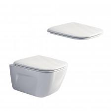 Catalano New Light Zestaw Miska WC wisząca bezrantowa z śrubami moc. z deską sedesową wolnoopadającą (1VSLIR00+5LIFRF00) - 686752_O3