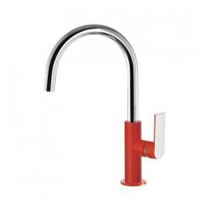 Tres Loft-Colors bateria umywalkowa stojąca czerwony chrom - 457694_O1