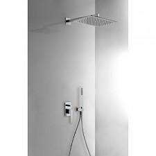 Tres Slim Exclusive kompletny zestaw prysznicowy podtynkowy deszczownica 320x220mm chrom - 460386_O1