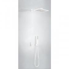 Tres Slim Exclusive kompletny zestaw prysznicowy podtynkowy deszczownica 320x220mm biały matowy - 752851_O1