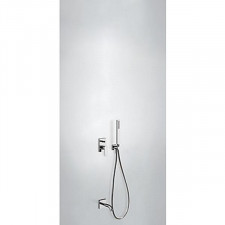 Tres Project kompletny zestaw wannowo-prysznicowy podtynkowy z zestawem punktowym wylewka chrom - 752882_O1