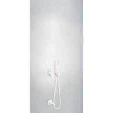 Tres Project kompletny zestaw wannowo-prysznicowy podtynkowy z zestawem punktowym wylewka biały matowy - 743366_O1