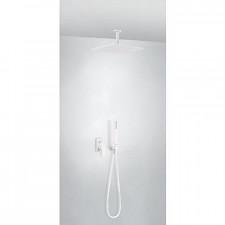Tres Project kompletny zestaw prysznicowy podtynkowy deszczownica 300x300mm biały matowy - 747730_O1