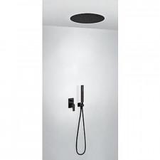 Tres Project kompletny zestaw prysznicowy podtynkowy deszczownica o380mm czarny matowy - 754443_O1