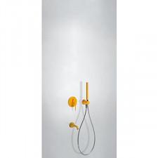 Tres Study Colors kompletny zestaw wannowo-prysznicowy podtynkowy z wylewką bursztynowy - 612782_O1