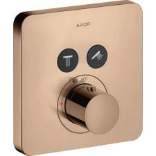 Axor ShowerSelect Bateria prysznicowa termostatyczna - 2 odbiorniki do 2 odbiorników czerwone złoto polerowane - 826059_O1