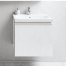 Geberit Acanto szafka podumywalkowa 60cm z jedną szufladą i jedną szufladą wewnętrzną, syfon oszczędzający przestrzeń, biała - 779609_O1