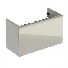 Geberit Acanto szafka podumywalkowa 90cm z jedną szufladą i jedną szufladą wewnętrzną, krótka, syfon oszczędzający przestrzeń, sand mat - 779640_O1
