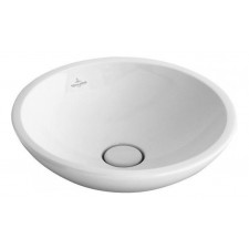 Villeroy & Boch Loop & Friends umywalka stojaca na blacie, 380 mm srednicy, z przelewem, Weiss Alpin - 357214_O1