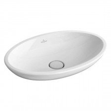 Villeroy & Boch Loop & Friends umywalka stojaca na blacie, 585 x 380 mm, z przelewem, Weiss Alpin - 357234_O1