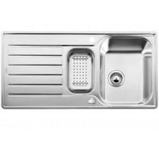 Blanco zlewozmywak stalowy LANTOS 6 S-IF z korkiem automatycznym i odsączarką stalową - 685070_O1