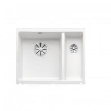 Blanco komora podwieszana ceramiczna SUBLINE 350/150-U PuraPlus biały połysk bez korka aut. z korkami InFino - 774119_O1
