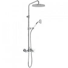 Tres Retro kompletny zestaw prysznicowy natynkowy deszczownica o310mm stary mosiądz - 431364_O1