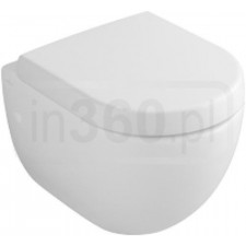 Villeroy & Boch Subway 2.0 miska WC wisząca krótka, 355x480mm, Pergamon Ceramicplus - 420008_O1