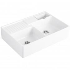 Villeroy & Boch Trendline Zlew ceramiczny dwukomorowy 895 x 220 x 630 mm Biały - 466323_O1