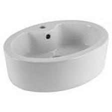 Umywalka nablatowa owalna, 52,5 x 40 cm, biała - 406223_O1