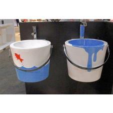 SCARABEO BUCKET umywalka 40r wzór paint blue - 463770_O1