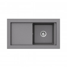 Teka zlewozmywak granit Aura 45 B-TG Metalic aluminium - 686515_O1