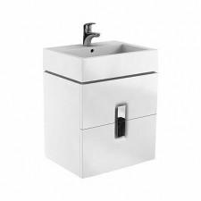 Koło Twins szafka z 2 szufladami 60cm biały połysk - 596966_O1