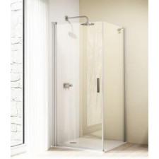Huppe Design elegance 4-kąt, Drzwi skrzydłowe, wariant: STN/STS, 1/2 STE; wym. 800/H:1900mm, szkło przezroczyste z Anti-Plaque - 436392_O1