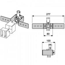 Tece Box zestaw montażowy do pisuaru z korpusem zaworu podtynkowego - 406950_O1