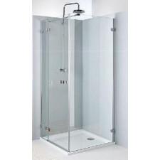 Koło Next drzwi prysznicowe skrzydłowe do ścianki 90cm lewe chrom - 424848_O1