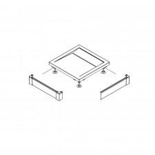 Sanswiss Ronal Marblemate obudowa brodzika postokątnego 2-części aluminium 80x80 biały - 491644_O1