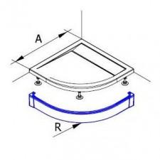 Sanswiss Ronal Marblemate Obudowa brodzika 1/4 koła aluminium 80 biały - 490794_O1