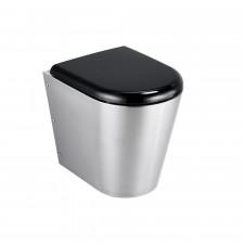 Ideal Standard Perth miska WC stojąca z deską sedesową stal nierdzewna - 577078_O1