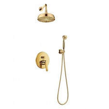 Omnires Art Deco kompletny system prysznicowy podtynkowy złoty - 768445_O1