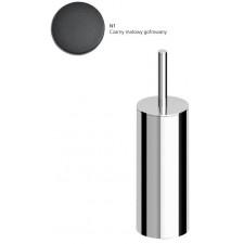 Zucchetti Pan Szczotka WC, wolnostojąca czarny matowy gofrowany - 23606_O1