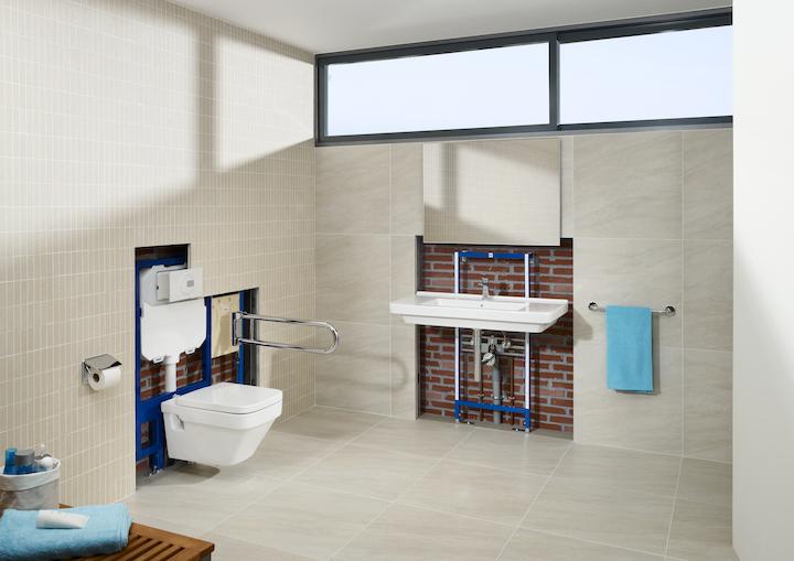 Nowoczesna i funkcjonalna łazienka ze stelażem podtynkowym