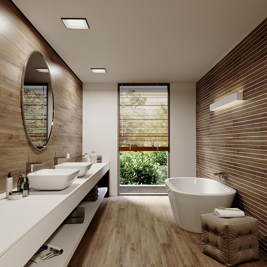 Płytki drewnopodobne – imitacja drewna w Twojej łazience