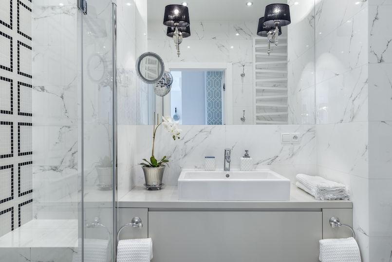 łazienka Bliska Natury Drewno Kamień Naturalny W łazience